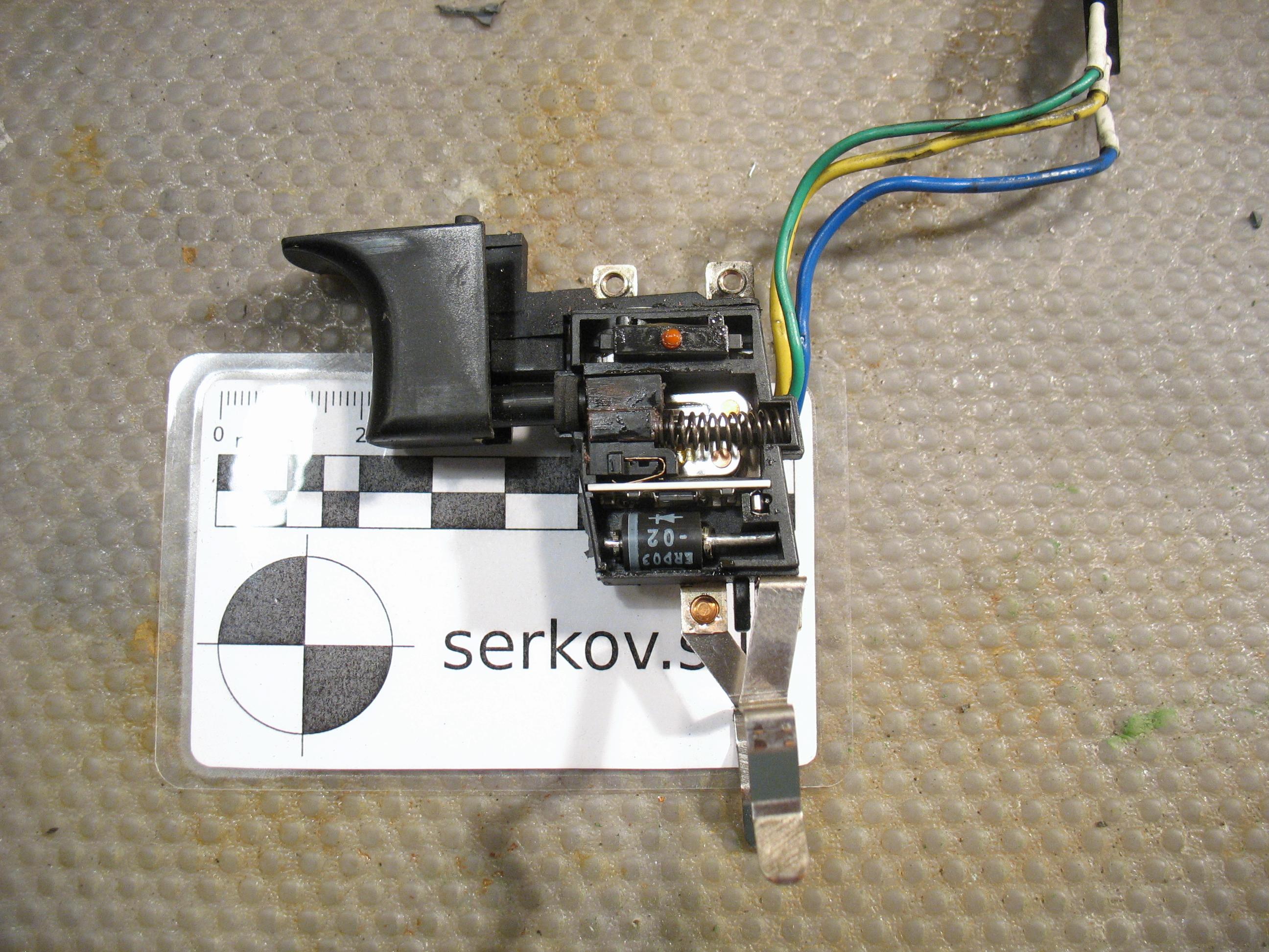 Схема электродрели реверсом кнопка с реверсом6